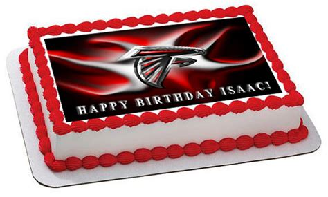 edibles atlanta atlanta falcons 2 edible birthday cake topper