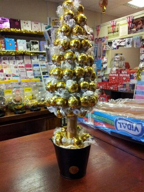 white chocolate christmas lindt tree  sweets
