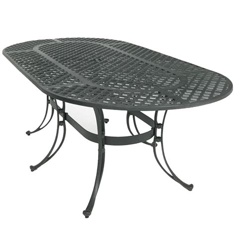 three coins 82 quot oval patio table 1010