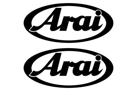 helm arai racing arai logo stickerschoose the color yourselfand select the