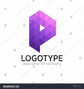 Letter P Cube Figure Logo Icon Stock Vector 462213091 ...