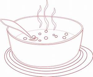 Soup Bowl Outline Related Keywords & Suggestions - Soup ...