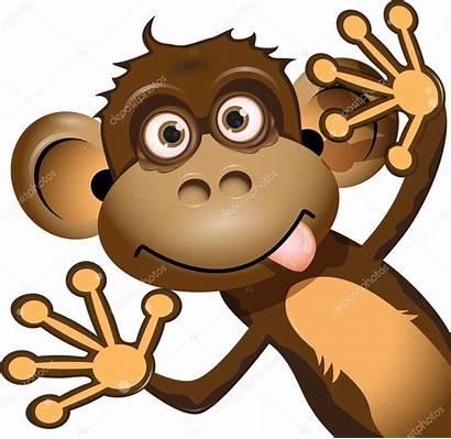 Monkey Funny Illustration Depositphotos