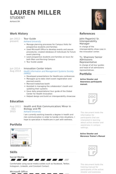 Tour Guide Resume Template by Tour Guide Resume Sles Visualcv Resume Sles Database