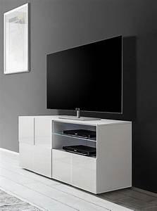 Tv 120 Cm : meuble tv blanc 120 cm id es de d coration int rieure french decor ~ Teatrodelosmanantiales.com Idées de Décoration
