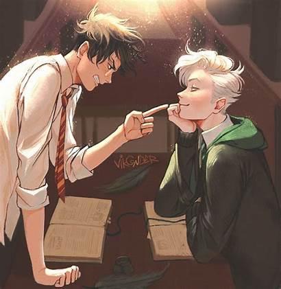 Drarry Harry Potter Anime Draco Fan Malfoy