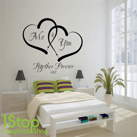Me And You Love Heart Wall Sticker Quote  Home Wall Art