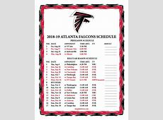 Printable 20182019 Atlanta Falcons Schedule