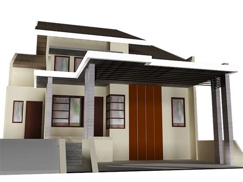 konsep 22 model kanopi beton rumah minimalis