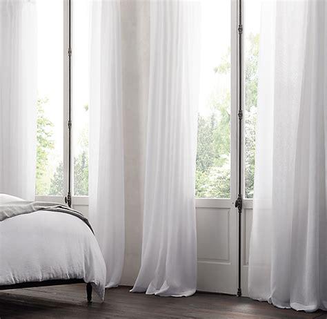 belgian sheer linen drapery