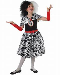Kostüm Cruella De Ville : ck349 cruella de ville 101 dalmations villain tween girls fancy dress up costume ebay ~ Frokenaadalensverden.com Haus und Dekorationen