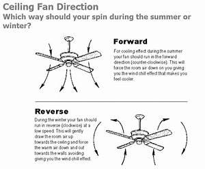 Rotation Of Ceiling Fan In Summer