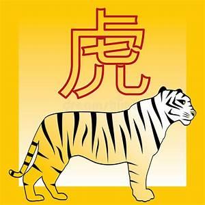 Chinesisches Horoskop Berechnen Kostenlos : tiger und japanisches und chinesisches horoskop hieroglyp vektor abbildung illustration von ~ Themetempest.com Abrechnung