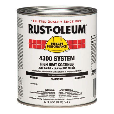 rustoleum 261969 paint aluminum 1 qt jet