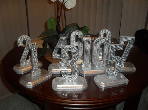 how to make numbers for wedding reception bling crystal rhinestone wedding reception numbers