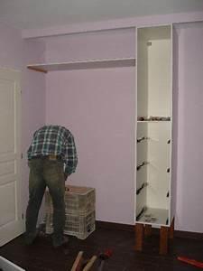 Comment Faire Un Placard Mural : fabrication du placard de notre chambre 1 fabriquer une penderie sur un mur dans une chambre ~ Dallasstarsshop.com Idées de Décoration