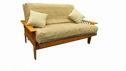 Futon Frame Bed Wood Sofa Wooden Loveseat