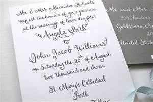 Whimsical calligraphy from barbara kua for Calligraphy wedding invitations toronto