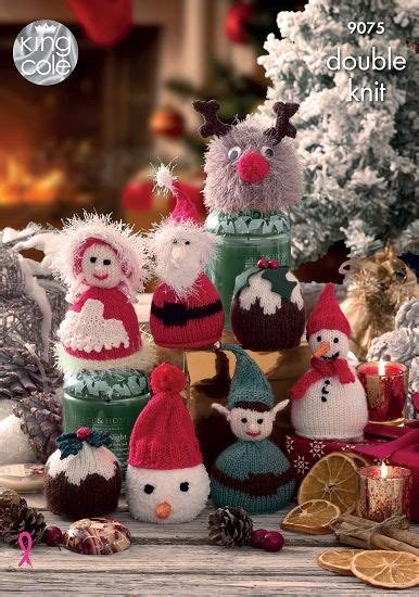 king cole christmas candy cosies knitting pattern