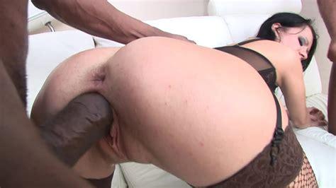 Black Cocks Cum Inside White Pussies In A Hot Creampie