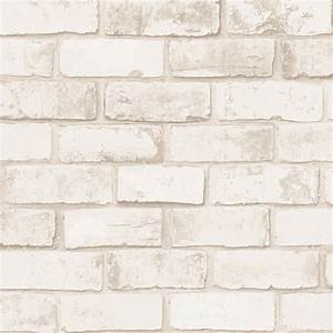 Brique De Parement Blanche : sch n papier peint briquette vinyle intiss brique naturel ~ Dailycaller-alerts.com Idées de Décoration