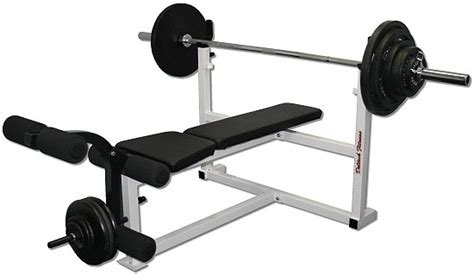 bench with weights deltech olympic weight bench