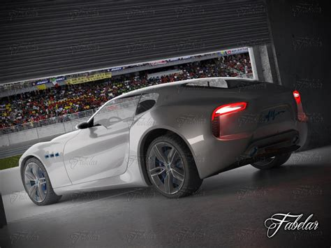 maserati garage maserati alfieri concept garage obj