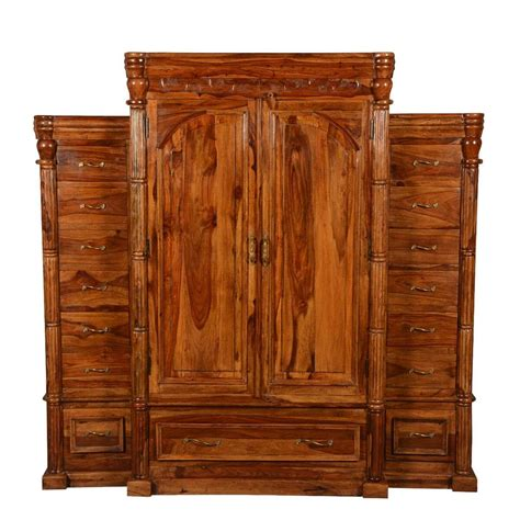 Large Wardrobe With Drawers by Royal Elizabethan Solid Wood Large Wardrobe Armoire With