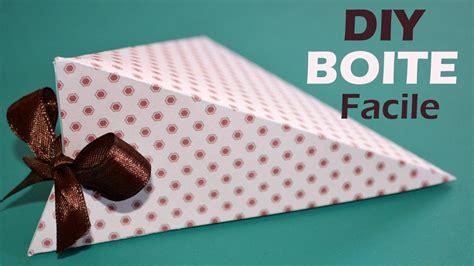 Comment Fabriquer Une Boite Comment Fabriquer Une Boite Cadeau Facile Diy Boite En Papier