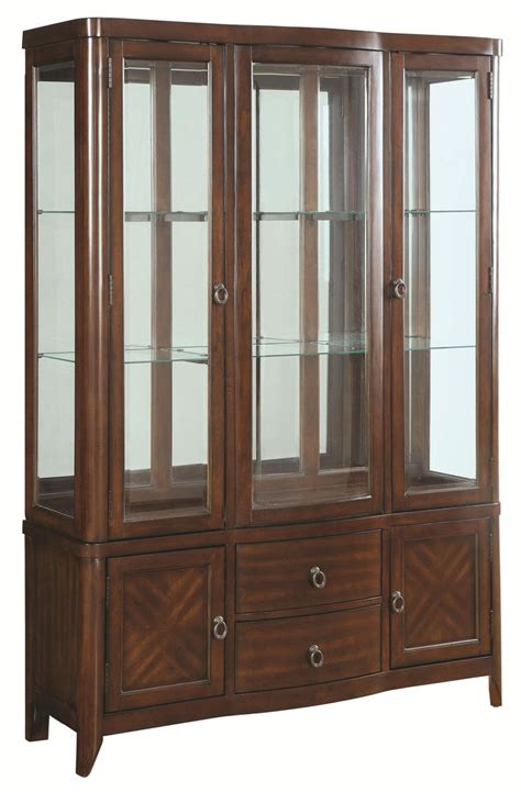 coaster home furnishings curio cabinet walnut louanna transitional dining buffet and hutch by coaster