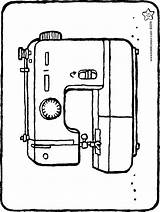 Sewing Machine Colouring Kiddicolour Drawing sketch template