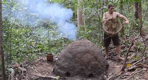 Burn Chart Primitive Technology He Made A Reusable Charcoal Kiln