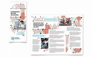 computer engineering tri fold brochure template design With engineering brochure templates free download