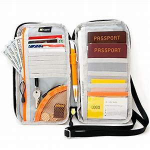 travel wallet passports holder with rfid blocking by With family travel document organizer