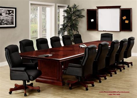 12 foot conference room table 10 high back black leather