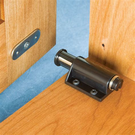 single door magnetic touch latch select color rockler woodworking  hardware