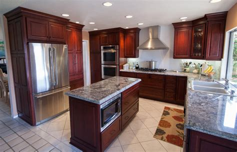 hanging cabinets in kitchen dynasty alder wood burgundy finish traditional 4135