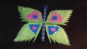 3d Origami Butterfly Assembly Diagram  Tutorial