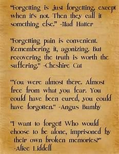 Forgetting | Alice in Wonderland | Pinterest