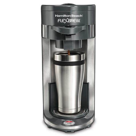 If your flexbrew coffee maker is gurgling and producing steam, but no coffee, your tubes under the coffee maker are probably clogged with coffee or small. Hamilton Beach FlexBrew® Coffee Maker Single-Serve, Gray - 49963