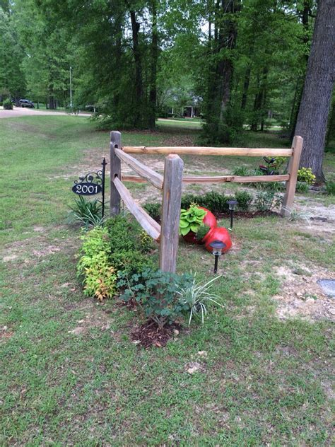 split rail fence landscaping ideas corner accent fence by next year the running roses and