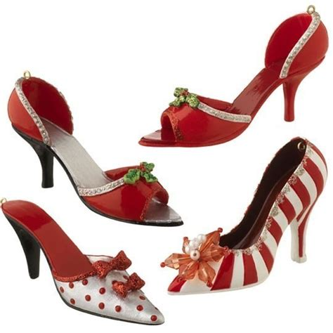 christmas shoe ornaments never too many shoes pinterest
