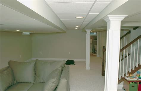 Best Drop Ceilings For Basement by Basement Drop Ceiling Finished Basement With Drop
