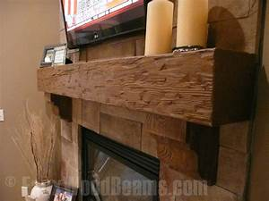 Fireplace Mantels Rugged Design Ideas with Fake Wood