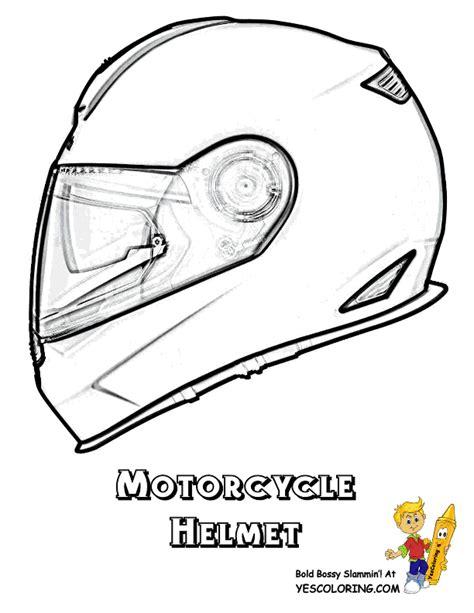 Bike Helmet Coloring Page Motorcycle helmet coloring