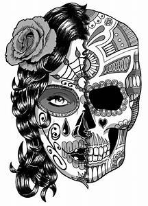 Tete De Mort Mexicaine Dessin : coloriage tete de mort inspiration de d coration ~ Melissatoandfro.com Idées de Décoration