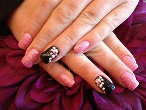 Eye Candy Nails & Training - Acrylic nails with pink ...
