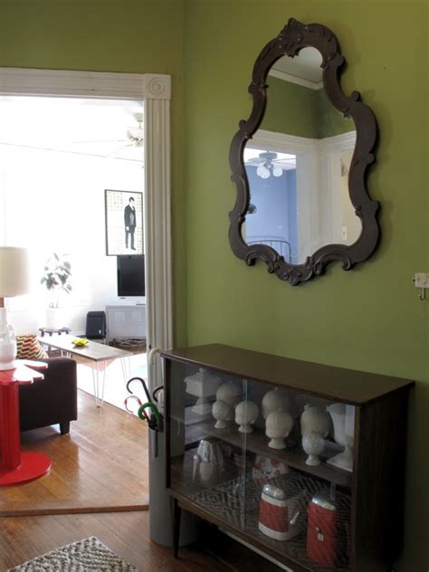 painting wood floors how to use green successfully in a hallway