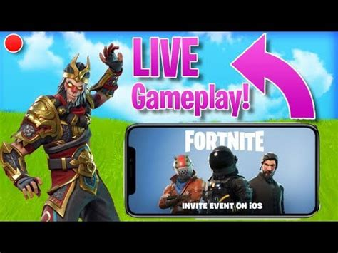person  play fortnite mobile stream highlights