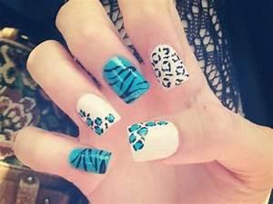Cute Acrylic Nail Designs cute acrylic nail teenagers ...